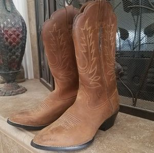 Ariat Brown Leather Cowboy Boots